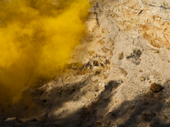 Ondrej Chmel Photography | Colourful Mist | Sandstone, shades and yellow smoke bombs, May